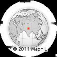 Outline Map of Kibber, rectangular outline
