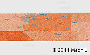 """Political Panoramic Map of the area around 32°8'5""""N,90°1'30""""W"""