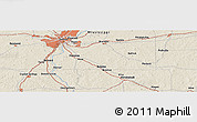 """Shaded Relief Panoramic Map of the area around 32°8'5""""N,90°1'30""""W"""