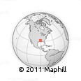 """Outline Map of the Area around 32° 8' 5"""" N, 90° 52' 30"""" W, rectangular outline"""