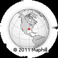 Outline Map of Tensas Parish, rectangular outline