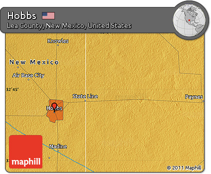 Free Physical Map of Hobbs