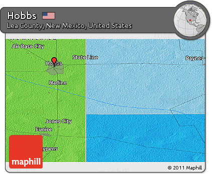 Free Political Panoramic Map of Hobbs