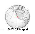 Outline Map of 92182, rectangular outline