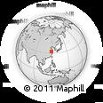Outline Map of Taizhou, rectangular outline