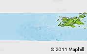 Physical Panoramic Map of Hasama