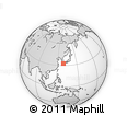 """Outline Map of the Area around 32° 36' 26"""" N, 129° 16' 30"""" E, rectangular outline"""