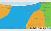 Political 3D Map of Al Māyah
