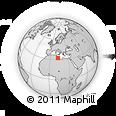 Outline Map of Al `Azīzīyah, rectangular outline
