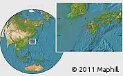 Satellite Location Map of Tomachi