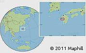 Savanna Style Location Map of Tomachi