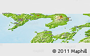 Physical Panoramic Map of Tomachi