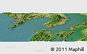 Satellite Panoramic Map of Tomachi