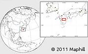 Blank Location Map of Shiranita