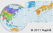 Political Location Map of Shiranita