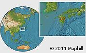 Satellite Location Map of Shiranita