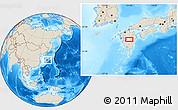 Shaded Relief Location Map of Shiranita