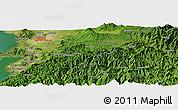 Satellite Panoramic Map of Kumamoto
