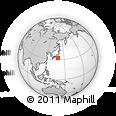 Outline Map of Aogashima, rectangular outline
