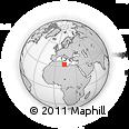 Outline Map of Tarhūnah, rectangular outline