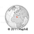Outline Map of Zlīţan, rectangular outline