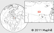 """Blank Location Map of the area around 32°36'26""""N,29°49'30""""E"""