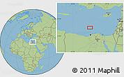 "Savanna Style Location Map of the area around 32°36'26""N,29°49'30""E"