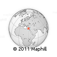 """Outline Map of the Area around 32° 36' 26"""" N, 29° 49' 30"""" E, rectangular outline"""