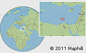 "Savanna Style Location Map of the area around 32°36'26""N,30°40'29""E"