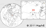 """Blank Location Map of the area around 32°36'26""""N,31°31'29""""E"""