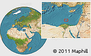 """Satellite Location Map of the area around 32°36'26""""N,31°31'29""""E"""