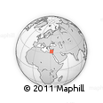 """Outline Map of the Area around 32° 36' 26"""" N, 31° 31' 29"""" E, rectangular outline"""