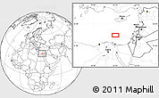 """Blank Location Map of the area around 32°36'26""""N,32°22'30""""E"""