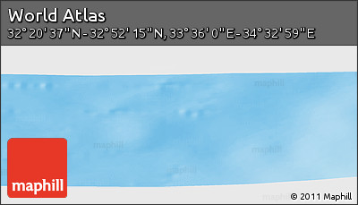 """Shaded Relief Panoramic Map of the Area around 32°36'26""""N,34°4'30""""E"""