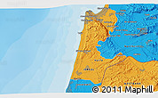 Political 3D Map of Nazareth