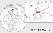 Blank Location Map of Bayt Musallam `Ubayd