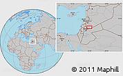Gray Location Map of Bayt Musallam `Ubayd