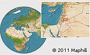 Satellite Location Map of Bayt Musallam `Ubayd