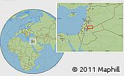 Savanna Style Location Map of Bayt Musallam `Ubayd