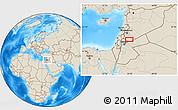 Shaded Relief Location Map of Bayt Musallam `Ubayd