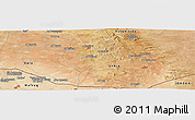 Satellite Panoramic Map of Bayt Musallam `Ubayd