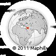 Outline Map of Trebil, rectangular outline