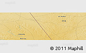 """Physical Panoramic Map of the area around 32°36'26""""N,39°10'29""""E"""
