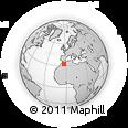 Outline Map of Ksar Medrar, rectangular outline