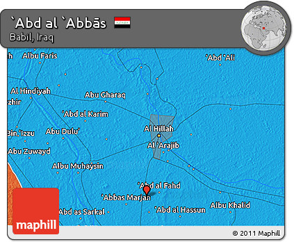 Political 3D Map of `Abd Al `Abbās