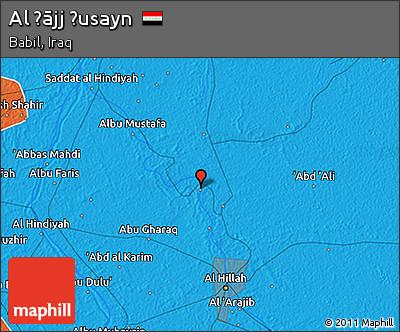 Political 3D Map of Al Ḩājj Ḩusayn