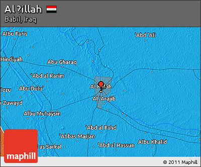 Political 3D Map of Al Ḩillah