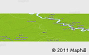 """Physical Panoramic Map of the area around 32°36'26""""N,45°7'30""""E"""