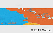 """Political Panoramic Map of the area around 32°36'26""""N,45°7'30""""E"""