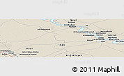 """Shaded Relief Panoramic Map of the area around 32°36'26""""N,45°7'30""""E"""